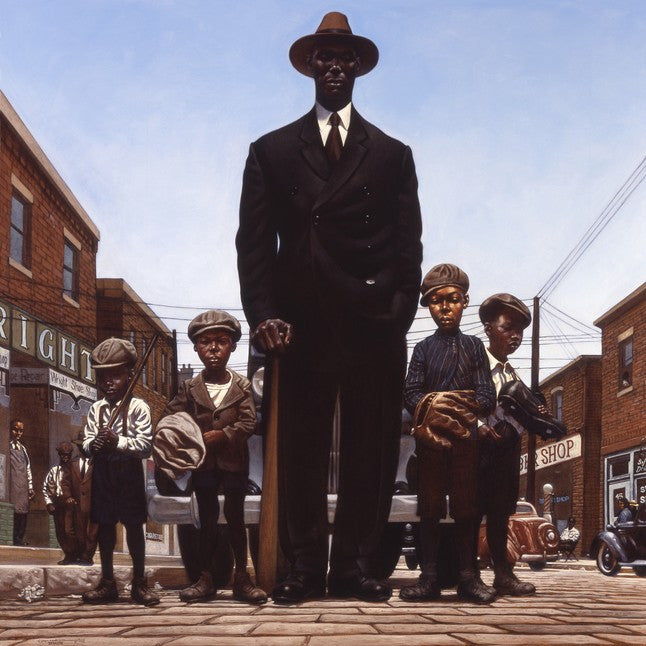 Willie Foster And Young Fans by Kadir Nelson