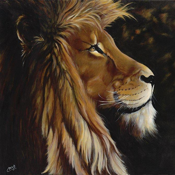 "Wisdom: African Lion by Cecil ""CREED"" Reed"