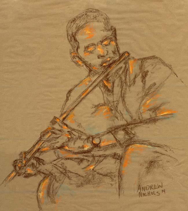 The Flutist (African-American) by Andrew Nichols