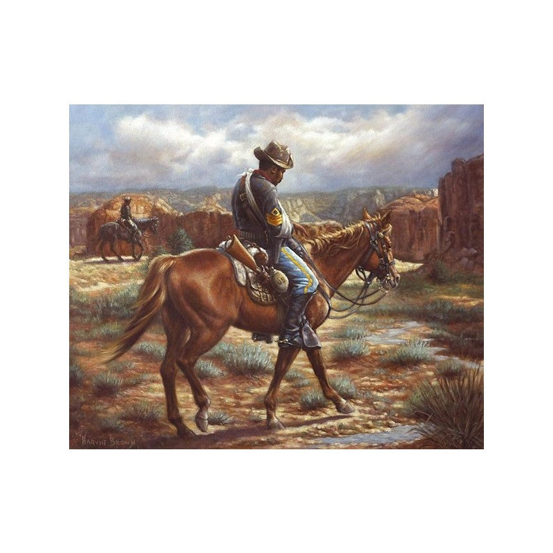 Wounded in Action (Buffalo Soldier) by Harvie Brown