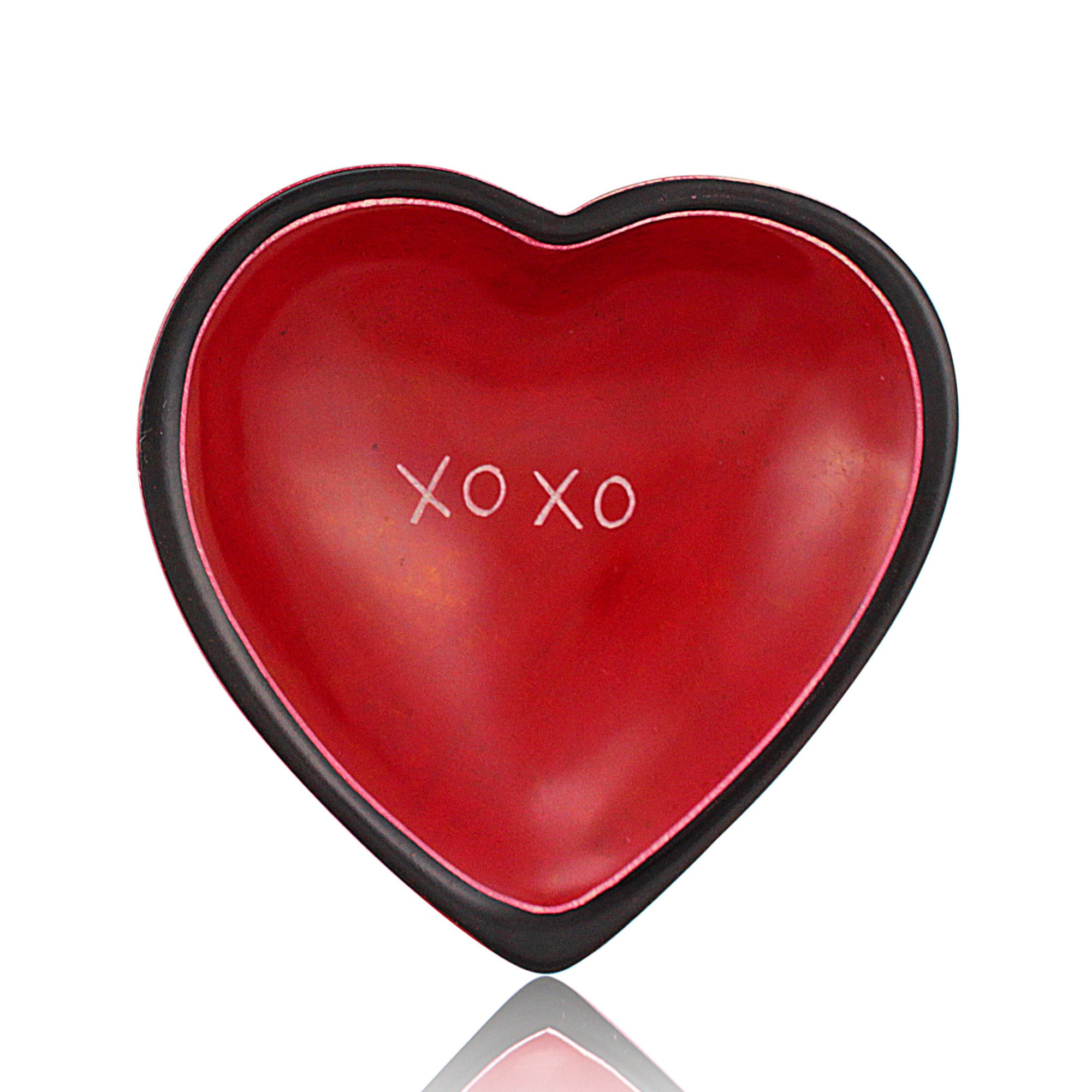 XOXO Kenyan Heart Shaped Soapstone Dish by Venture Imports