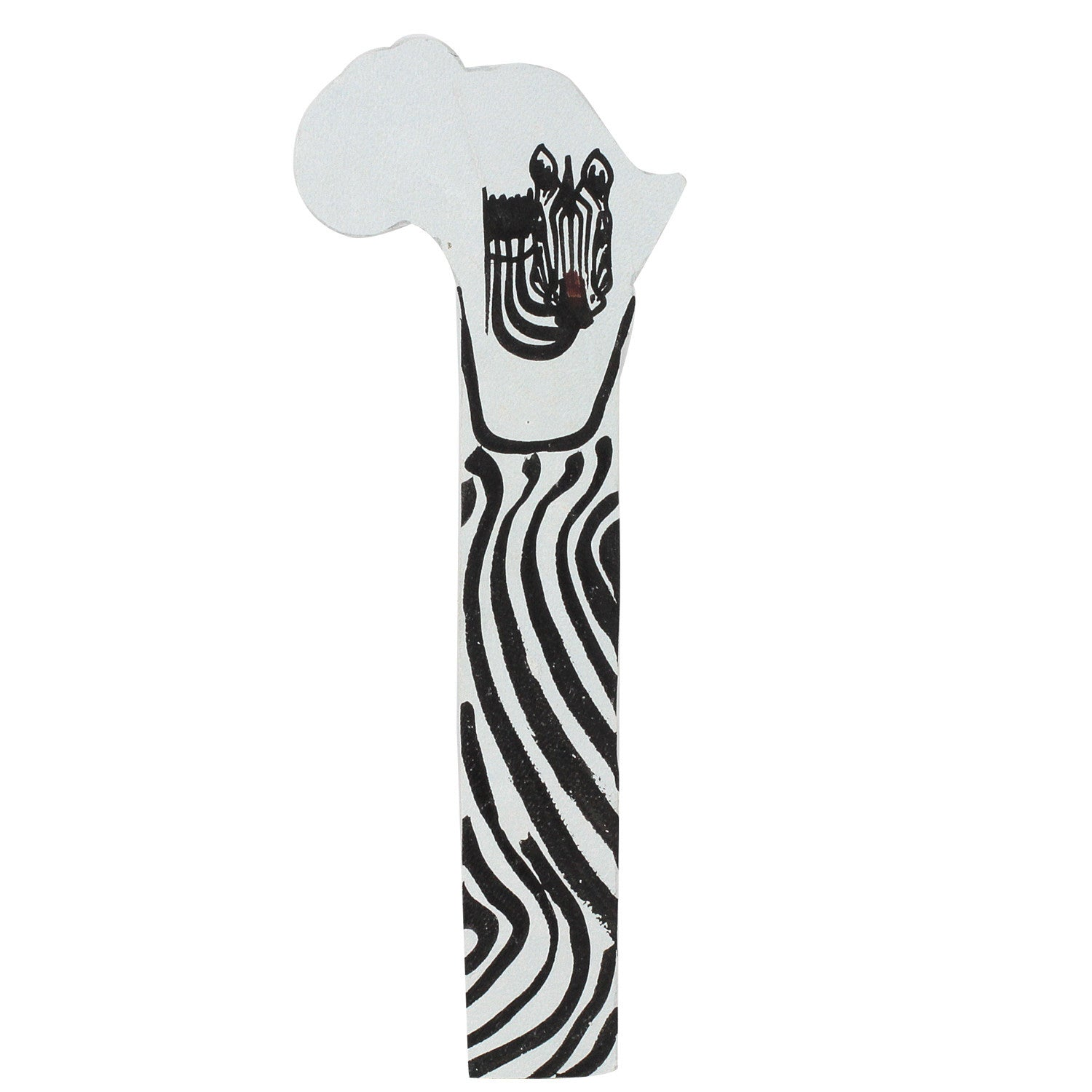 Zebra Head: Hand Made African Leather Bookmark (Kenya)
