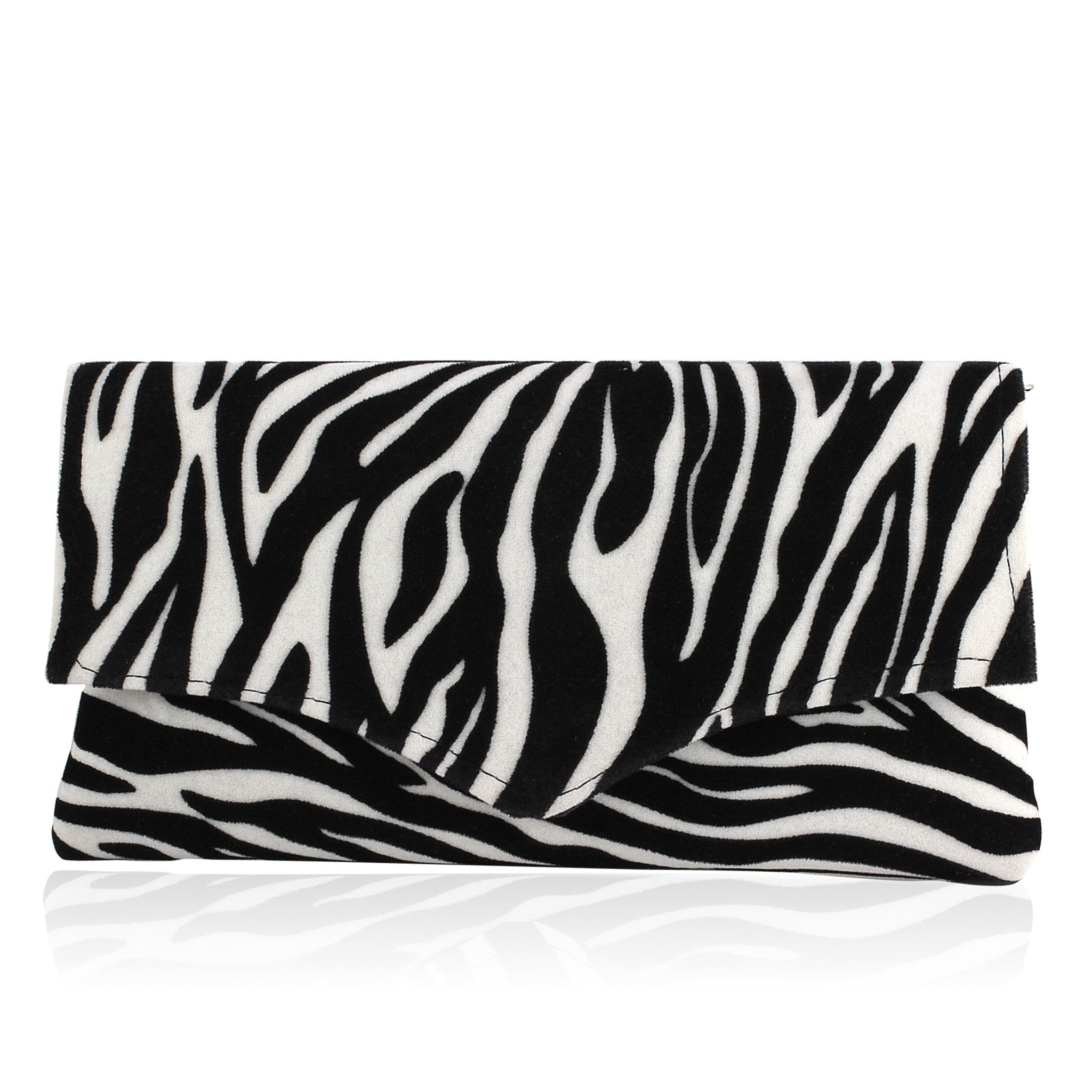 Kenyan Hand Made Zebra Envelope Clutch
