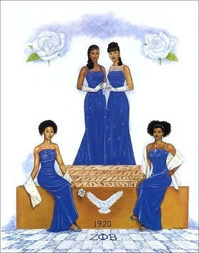Zeta Phi Beta Pride by Johnny Myers
