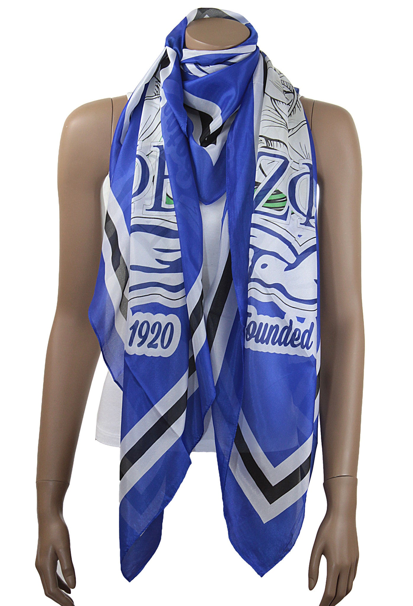 Zeta Phi Beta Oversized Faux Silk Scarf