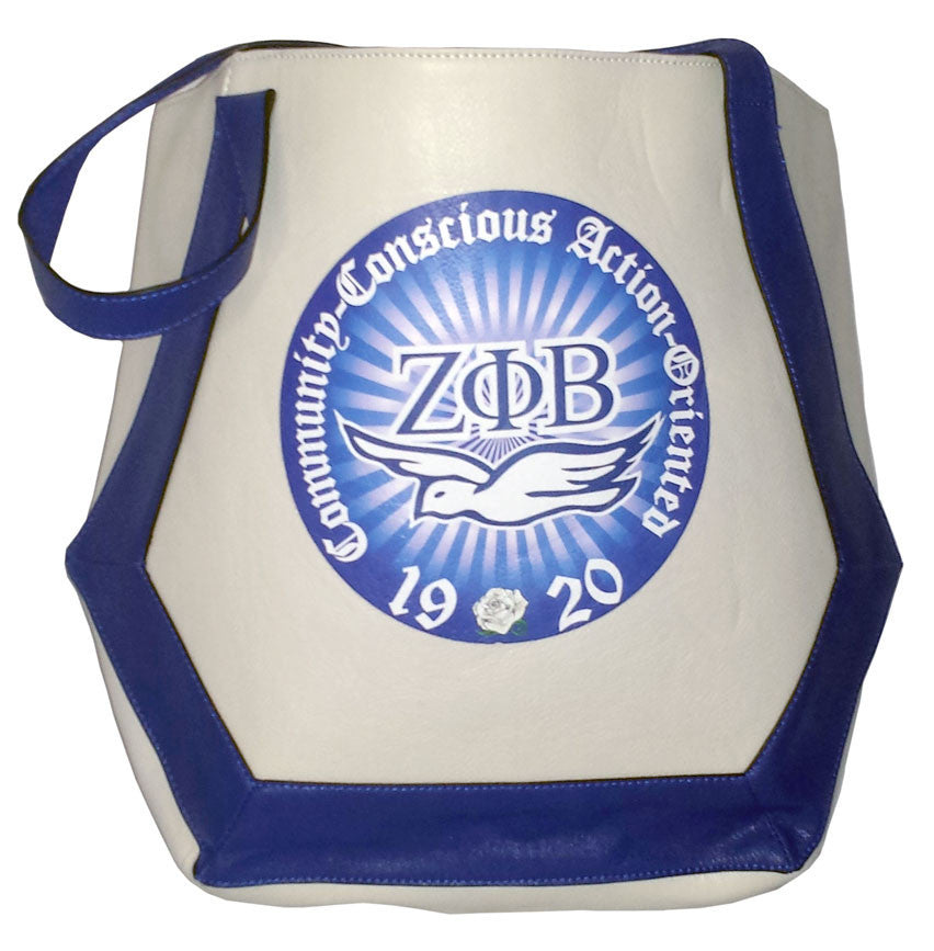 Zeta Phi Beta Dove Tote Bag by DWO