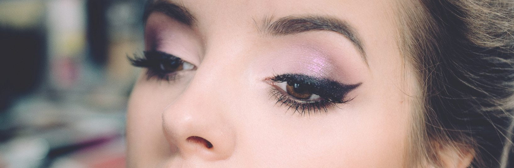 eye lashes and brows