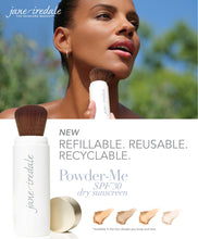 Load image into Gallery viewer, POWDER-ME SPF 30 REFILLABLE BRUSH & 2 REFILLS