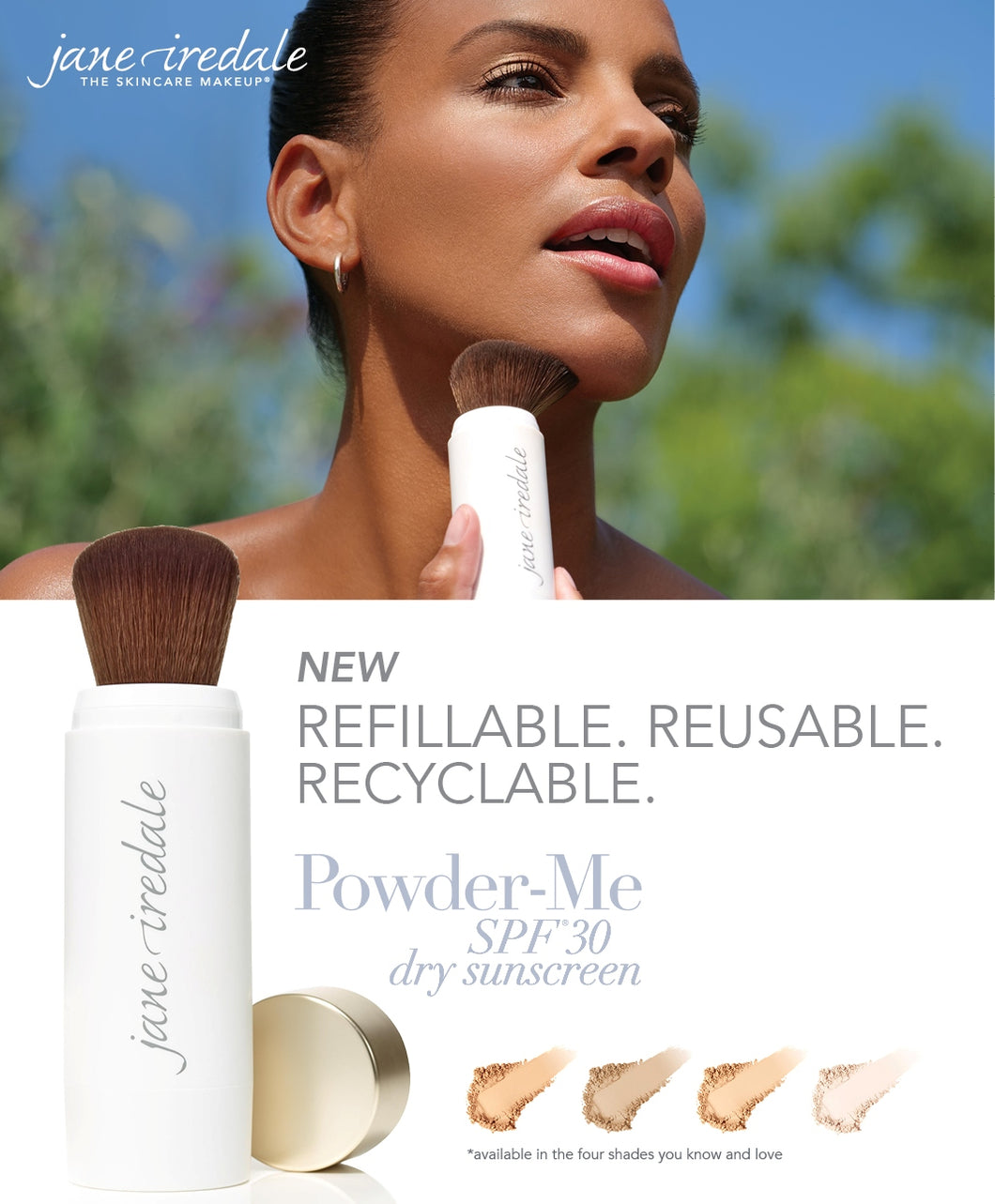 POWDER-ME SPF 30 REFILLABLE BRUSH & 2 REFILLS