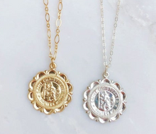 Saint Christopher Travelers Coin Necklace