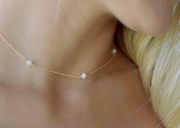 Three Pearl Choker Necklace