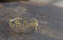 Custom Wire Name Bracelet
