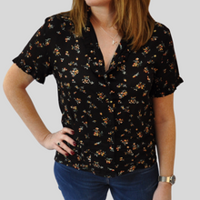 Load image into Gallery viewer, Amelie Black Tea Blouse
