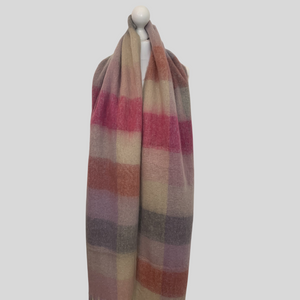 Layla Super Soft Check Scarf - Pink