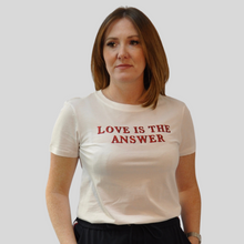 Load image into Gallery viewer, Love Is The Answer White T-Shirt