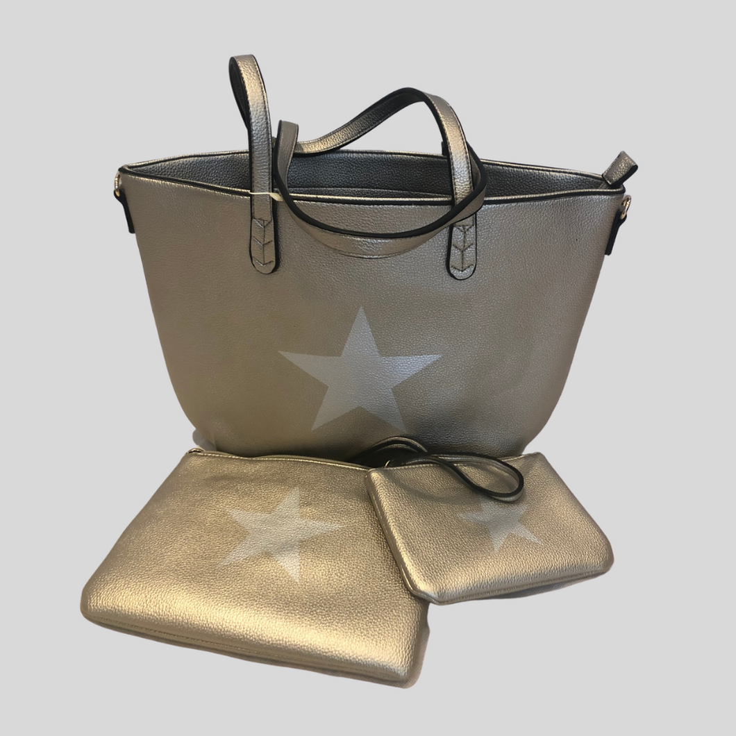 Star Tote Bag - Gold