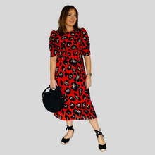 Load image into Gallery viewer, Aurora Midi Dress - Red