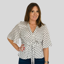 Load image into Gallery viewer, Leila Polk Dot Blouse