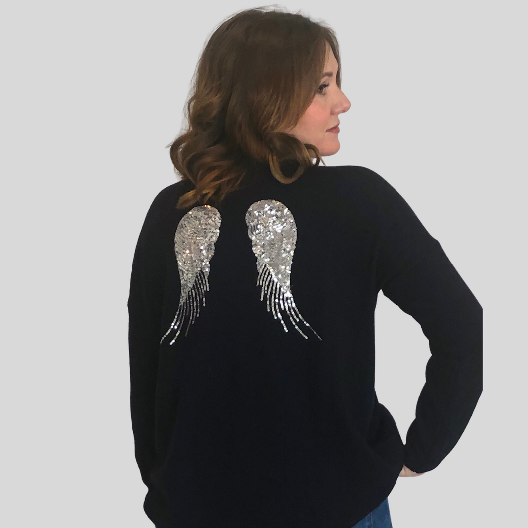 Navy Wings Cashmere Jumper