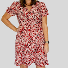 Load image into Gallery viewer, Mia Red Tea Dress