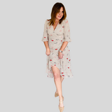 Load image into Gallery viewer, Lulu Lips Wrap Dress