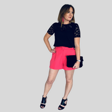 Load image into Gallery viewer, Fuchsia Belted Shorts