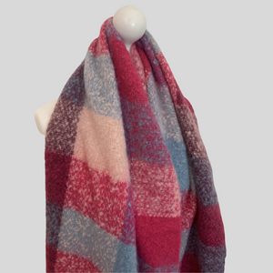 Mira Super Soft Large Check Scarf