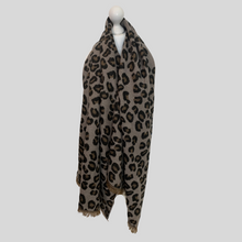 Load image into Gallery viewer, Large Leopard Blanket Scarf