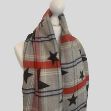 Load image into Gallery viewer, Allstar Reversible Check Scarf - Grey