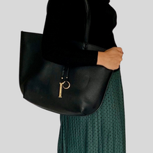 Load image into Gallery viewer, Black Reversible Tote Bag