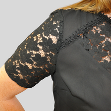 Load image into Gallery viewer, Black Lace Detail Top