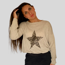 Load image into Gallery viewer, Leopard Star Cashmere Jumper