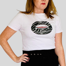 Load image into Gallery viewer, Zebra Lips Tee