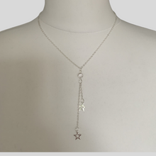 Load image into Gallery viewer, Silver Star Drop Pendant