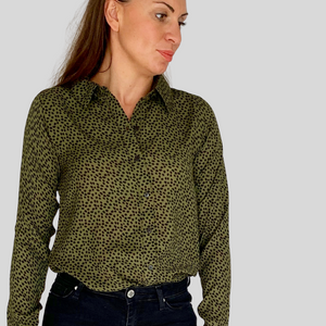 Olive Green Speck Shirt