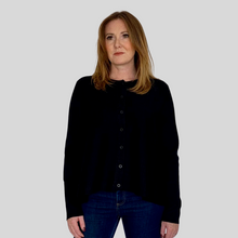 Load image into Gallery viewer, Black Swing Cardigan