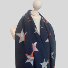 Load image into Gallery viewer, Allstar Reversible Check Scarf - Navy