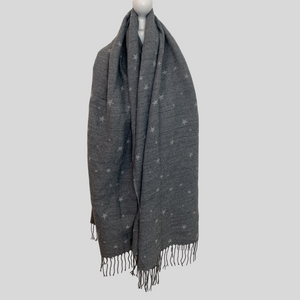 Stellar Reversible Star Scarf - Grey