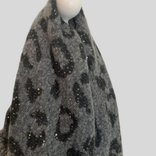 Load image into Gallery viewer, Leopard Print Blanket Scarf - Grey