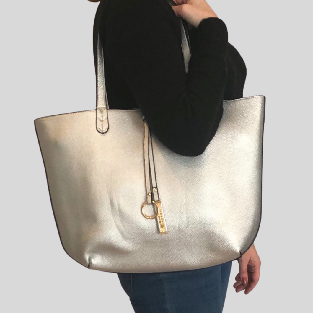 Silver Reversible Tote Bag