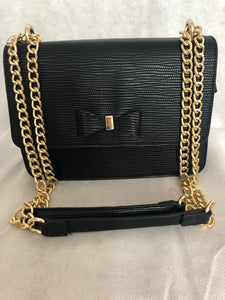 Black Bow Chain Bag