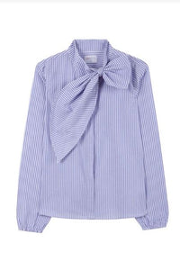 Striped Bow Shirt