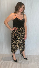 Load image into Gallery viewer, Leopard Print Wrap Skirt