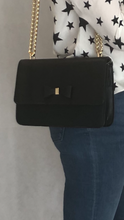 Load image into Gallery viewer, Black Bow Chain Bag