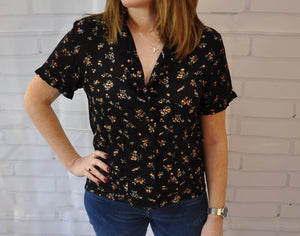 Amelie Black Tea Blouse
