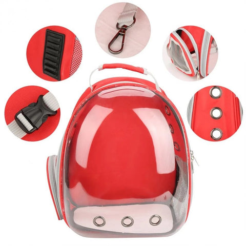 Cat Carrier Backpack Capsule Red