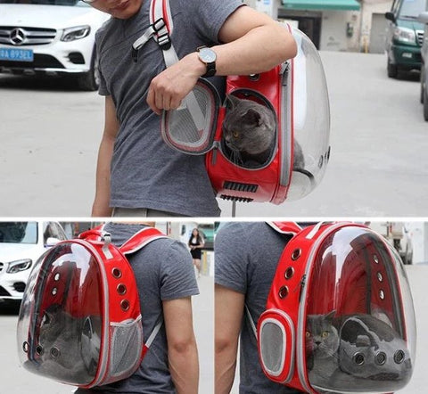 Transparent Cat Carrier Backpack Capsule