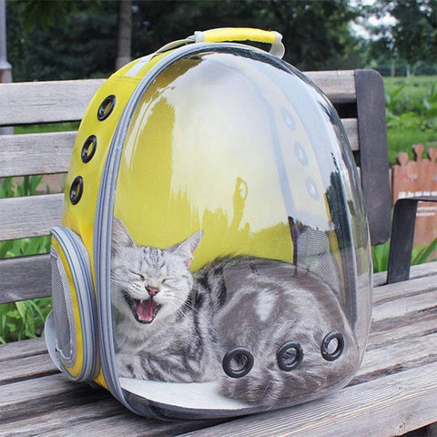 Cat Backpack Capsule Carrier Yellow