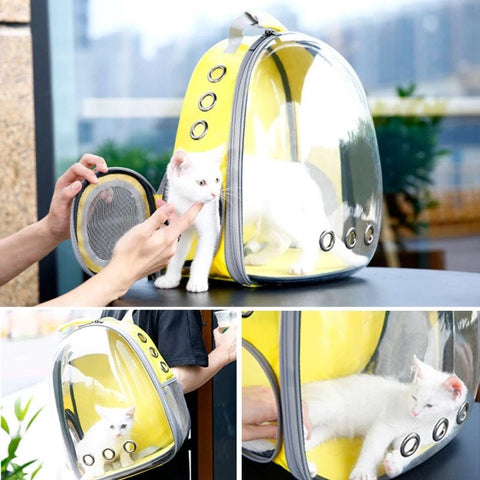 Transparent Cat Carrier Capsule Backpack