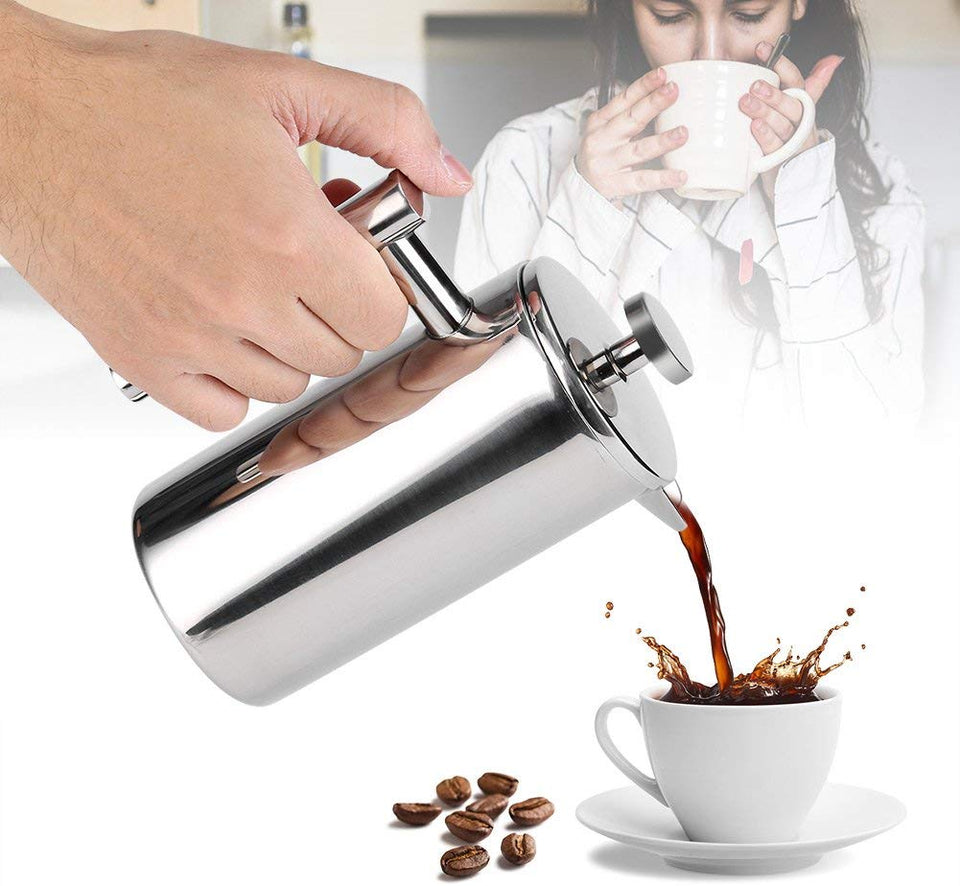 Stainless Steel French Press Coffee Maker - Carteese